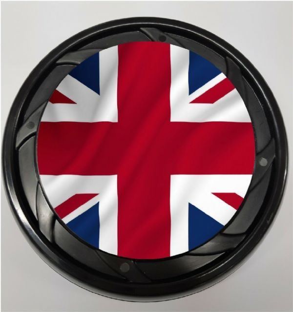WHEELCHAIR & POWERCHAIR PERSONALISED SPOKE GUARDS union jack